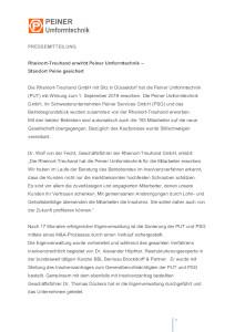 Press Release 05.09.2019 (Document in German)