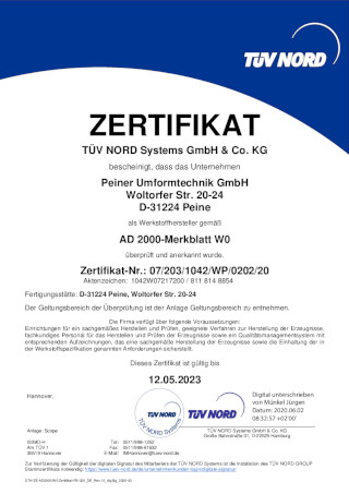 AD 2000-Merkblatt W0 deutsch