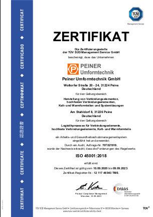 ISO 45001:2018 - deutsch