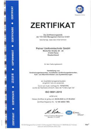 ISO 9001:2015 - deutsch